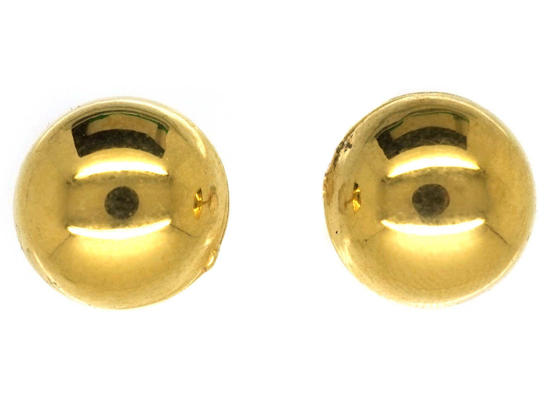 15ct Gold Round Earrings