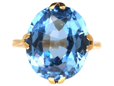 Art Deco 9ct Gold & Zircon Ring
