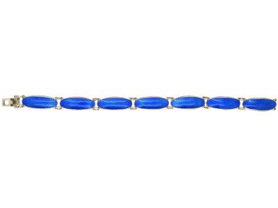 Silver & Blue Enamel Bracelet by David Andersen