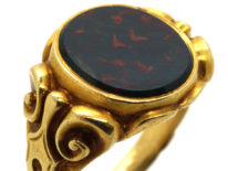 Victorian 18ct Gold & Bloodstone Signet Ring