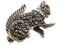Silver & Marcasite Squirrel Brooch