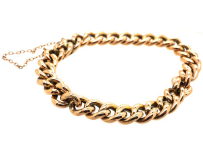 Edwardian 9ct gold Curb Bracelet
