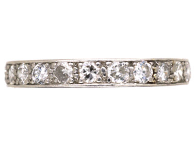 Art Deco Platinum & Diamond Set Eternity Ring