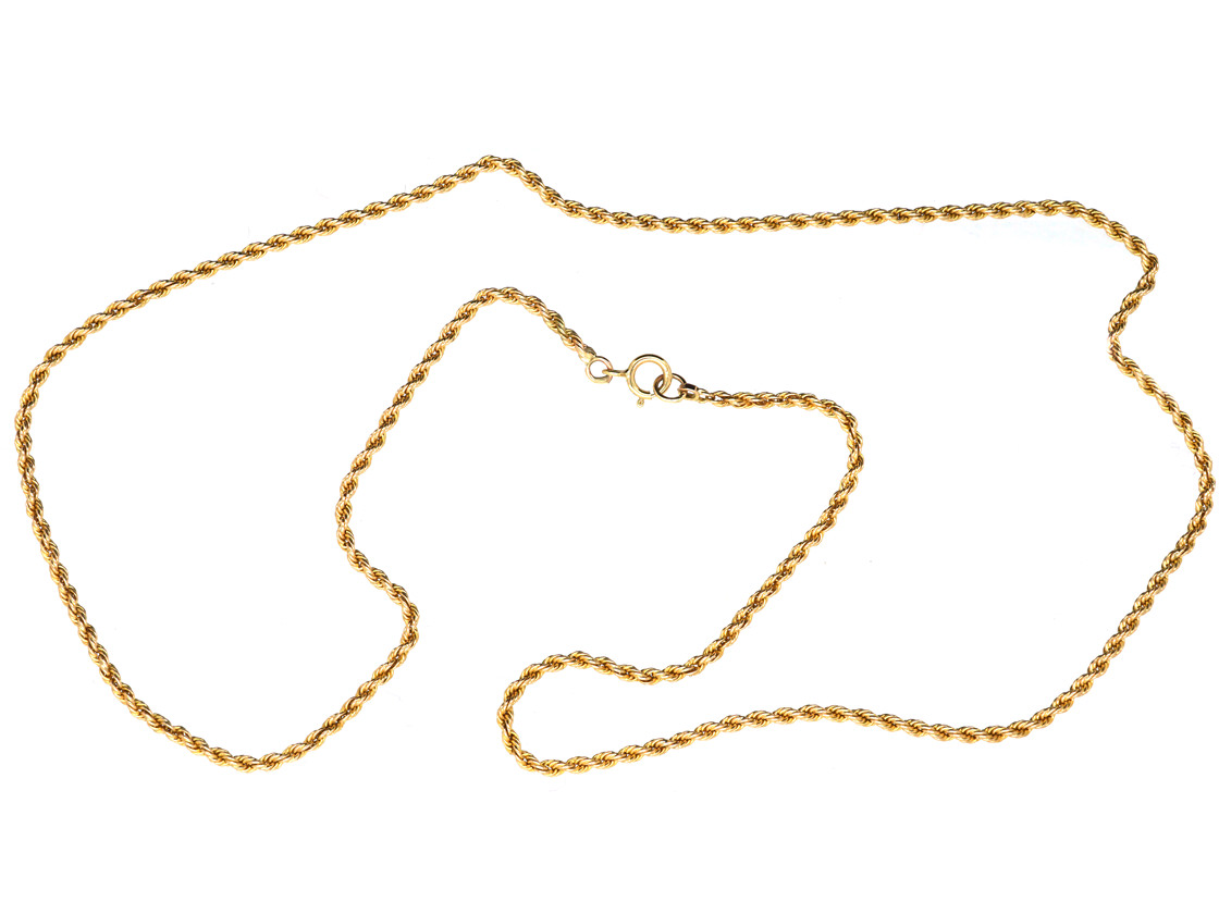 Edwardian 15ct Gold Gold Prince of Wales Twist Chain
