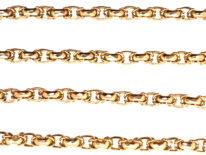 Victorian 9ct Gold Byzantine Link Chain