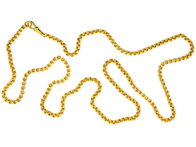 Victorian 15ct Gold Mid Length Belcher Chain