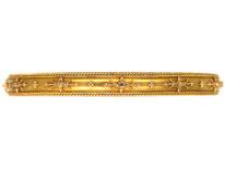 Victorian 15ct Gold Narrow Bangle