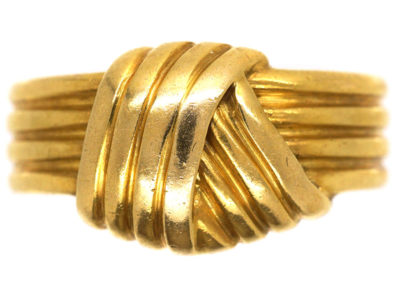 Edwardian 18ct Gold Entwined Knot Ring
