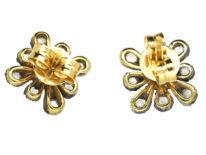 Rose Diamond Cluster Earrings
