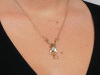 Art Nouveau 15ct Gold Necklace Set With Opals by Murrle Bennett & Co