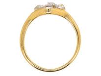Art Nouveau 18ct Gold & Platinum, Ruby & Diamond Ring