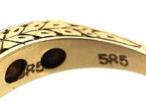 Art Deco 14ct Gold Three Stone Diamond Ring