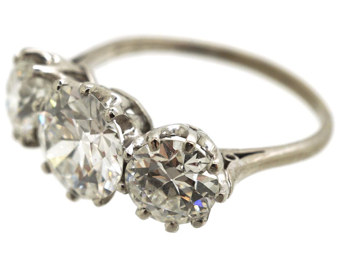 Platinum & Three Stone Diamond Ring
