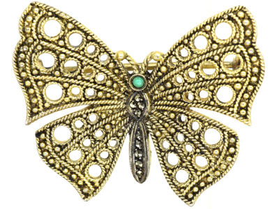 Silver Butterfly Brooch by Theodor Fahrner