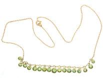Edwardian 15ct Gold, Diamond & Peridot Necklace