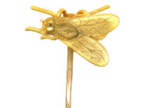 Victorian 15ct Gold Tie Pin of a Bee