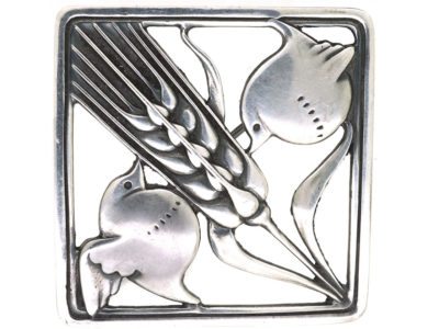 Silver Wheat Sheaf Brooch by Arno Malinowski for Georg Jensen