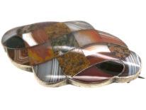 Victorian Scottish Silver & Interwoven Agate Brooch