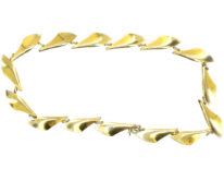 Silver Gilt & White Enamel Necklace by Albert T Scharning