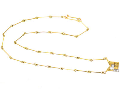 18ct Gold & Diamond Necklace by Bjorn Weckstromm for Lapponia