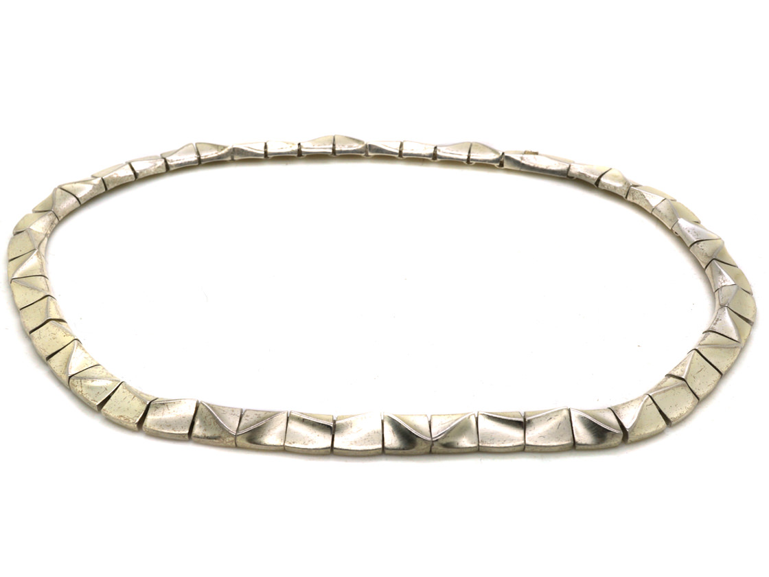 Silver Collar by Bjorn Weckstrom for Lapponia