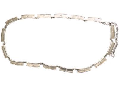 Silver & Paste Necklace