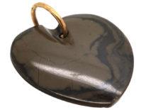 Victorian Agate Heart Pendant