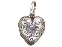Edwardian Silver Heart Shaped Locket