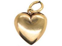 Edwardian 9ct Gold Heart Shaped Pendant