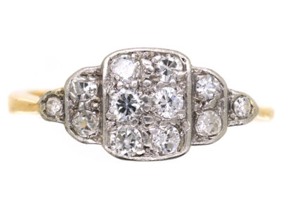 Art Deco 18ct Gold, Platinum & Diamond Ring