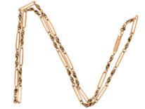 Edwardian 9ct Gold Ornate Chain