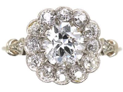 Edwardian Platinum & Diamond Cluster Ring