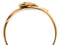 Victorian 15ct Gold & Diamond Snake Ring
