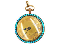 Early 19th Century French 18ct Three Colour Gold Half Hunter Watch by Le Roy