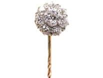 Edwardian Diamond Cluster Tie Pin