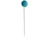Edwardian Pave Set Turquoise Tie Pin