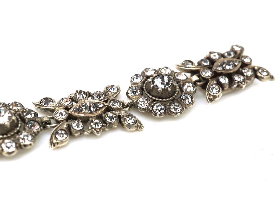 French 19th Century Silver & Paste Bracelet