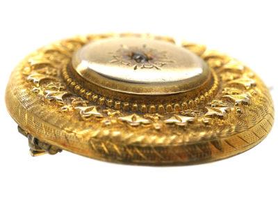 Victorian 15ct Round Brooch