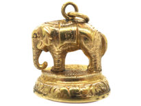 Victorian 9ct Gold Cased Elephant Seal