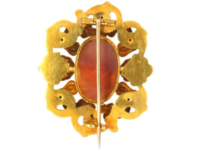 William 1V 15ct Gold Hard Stone Cameo Brooch