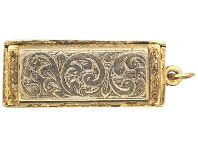 9ct Gold Harmonica Pendant
