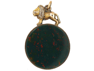 Victorian 9ct Gold Double Sided Seal with Lion on Top