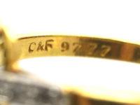 18ct Gold, Platinum, Rose Diamond & Peridot Ring by Cropp & Farr