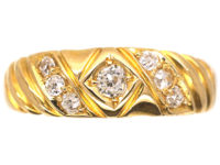 Victorian 18ct Gold Ring set with Diamonds