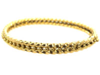 Edwardian 18ct Gold Illusion Bangle