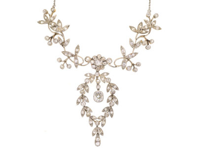 Edwardian Platinum & Diamond Festoon Necklace