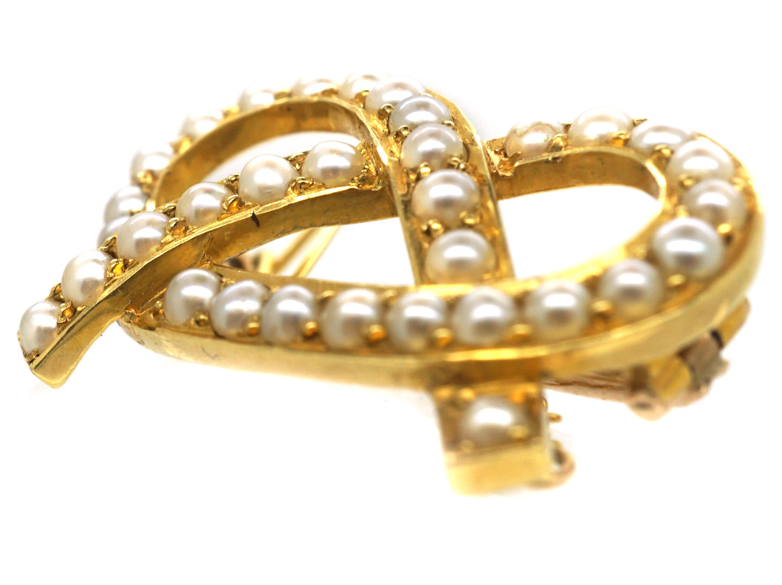 Victorian 15ct Gold Lovers Knot Brooch