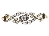 Edwardian 15ct Gold Twist Design Diamond Bangle