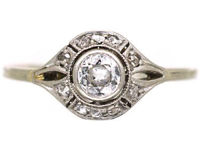 Art Deco 14ct White Gold Diamond Ring