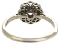 Edwardian 18ct White Gold & Platinum, Diamond Daisy Cluster Ring